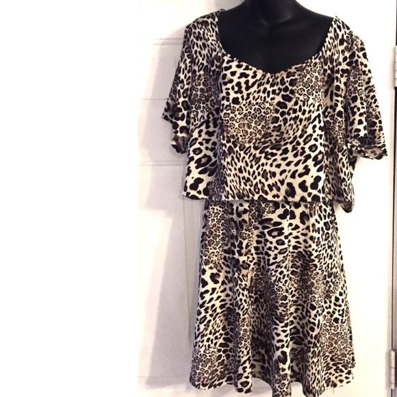 Fashion to Figure Dresses & Skirts - Fashion to Figure Leopard 2-Piece Leopard Set 3X